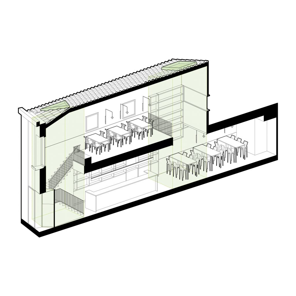Diseño interior Bar restaurante