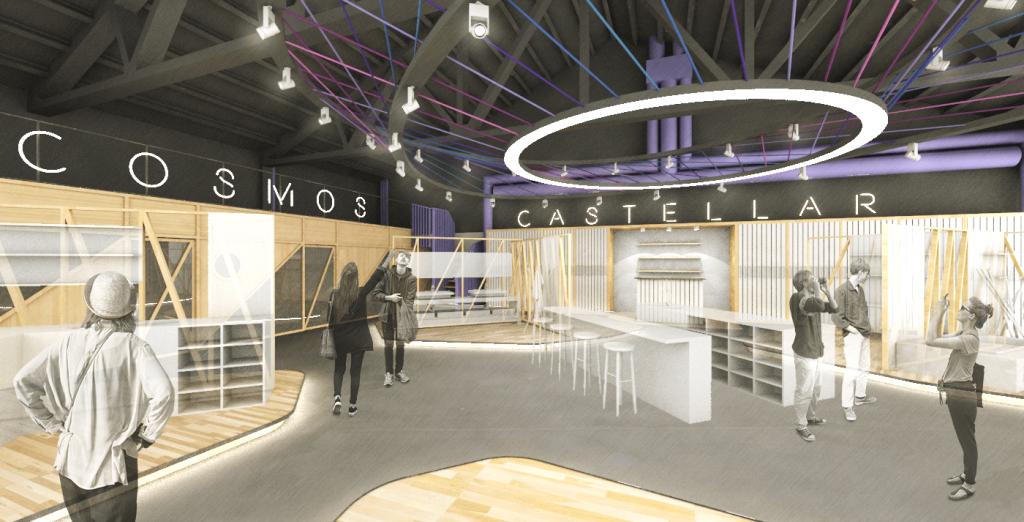 Diseño interior espacio comercial Showroom